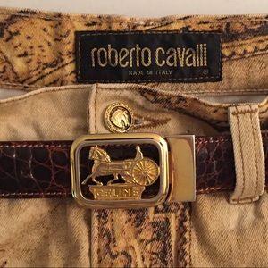 Celine Belt Buckle Rare Vintage Alligator Italy